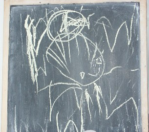 """Daddy with a tangle in his hair"" by William Fraser, aged 2¾"